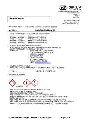 Example MSDS